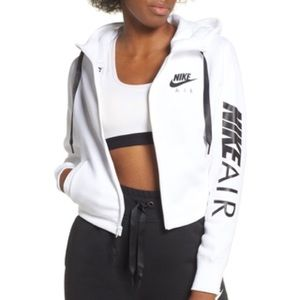 Nike's cropped zip up hoodie